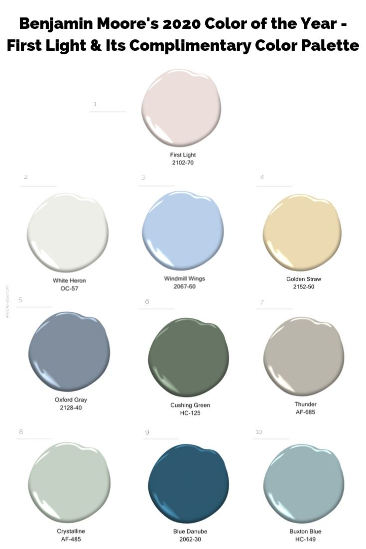 Benjamin moore 39 s 2020 color of the year first light te - Color of the year 2020 ...