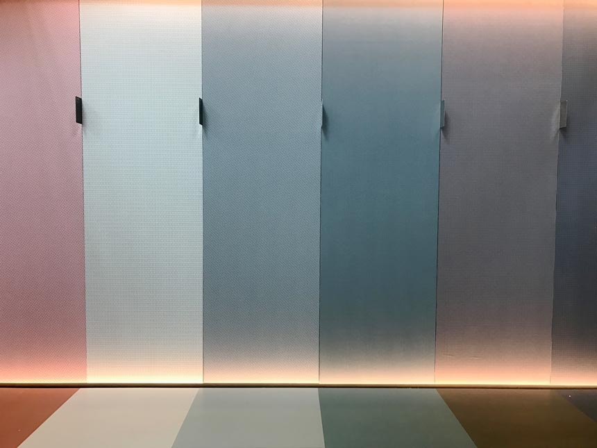 Micropapers and microrubbers from Progettomicro at the fair of Cersaie 2019.