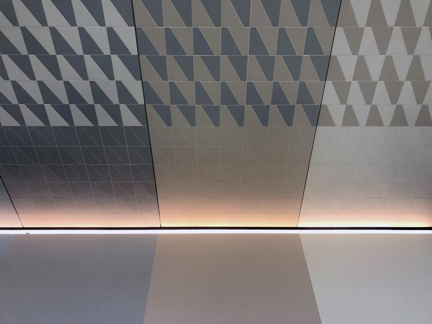 Microtiles and microrubbers from Progettomicro at Cersaie 2019.