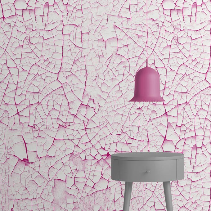 Scratches wallpaper in pink. From Mineheart.
