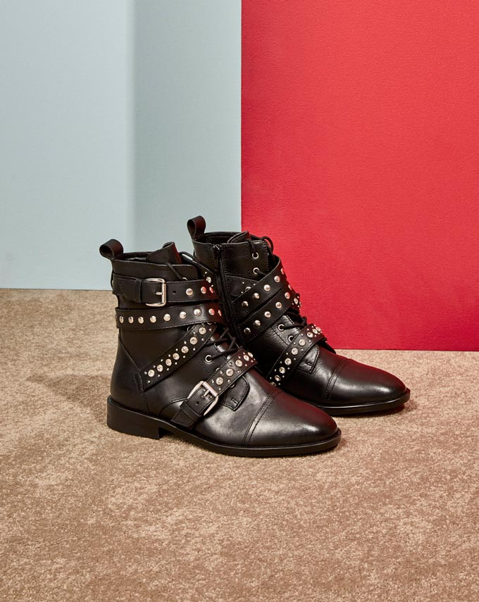 A pair of ankle boots with buckles. Image by Dorothy Perkins.