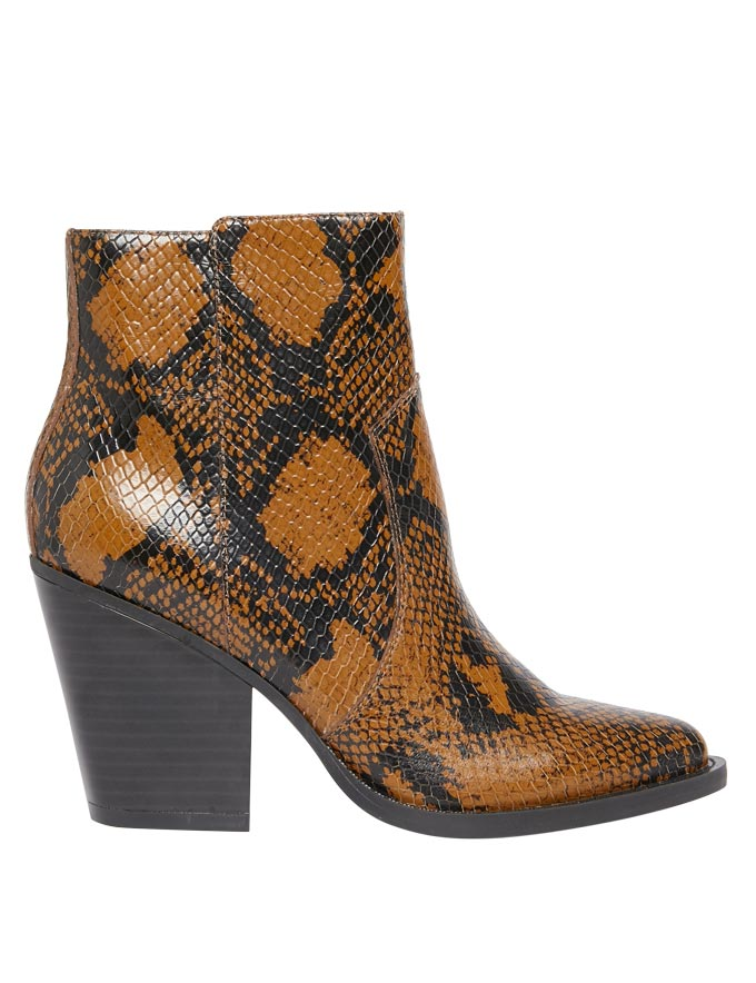 A snake skin ankle boot. Image by Marks&Spencer.