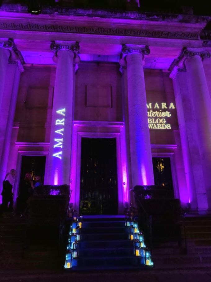 The One Marylebone venue where the 2019 Amara Interior Blog Awards took place.