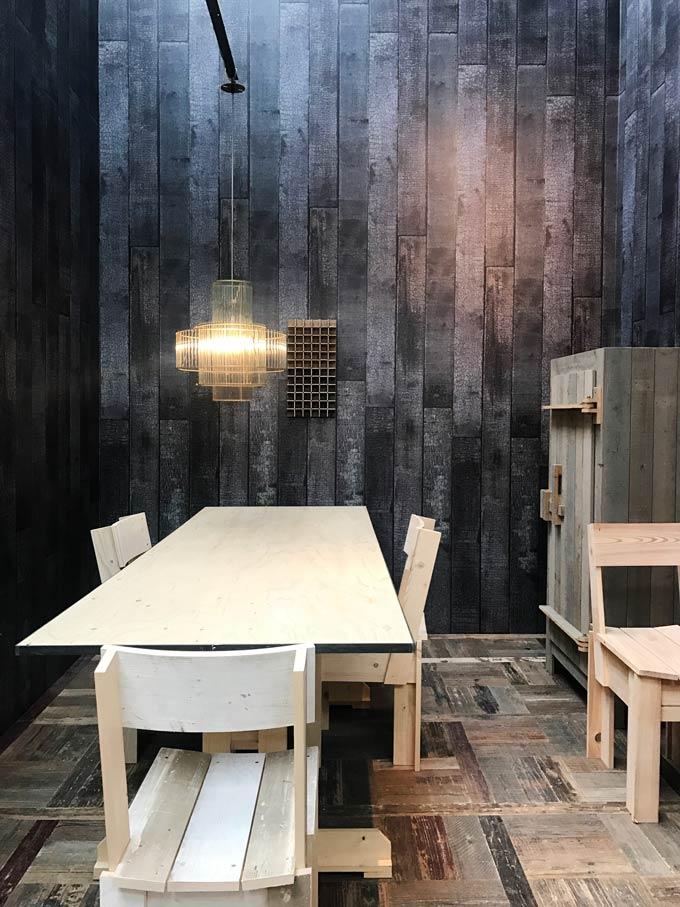 View of an installation at Piet Hein Eek during the 2019 Dutch Design Week.