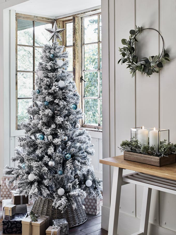 An all silver Christmas tree. How delightful! Image via Argos.