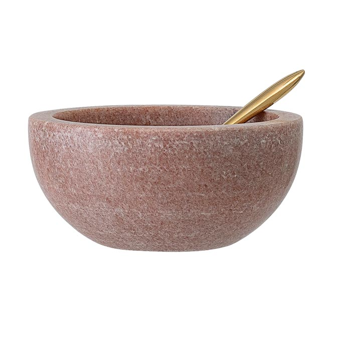 A pink marble bowl from Cult Furniture. Marble decor ideas.