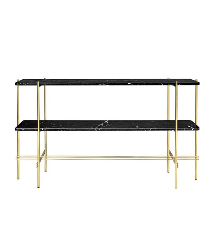 The Gubi Gamfatesi TS Console Table in black marble. Image via Nest.co.uk.