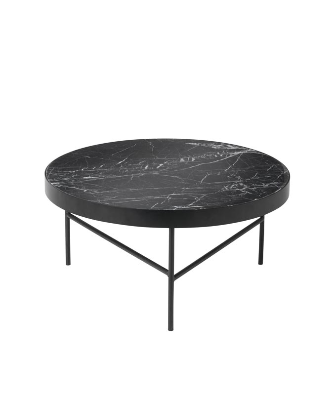 Ferm Living large black marble table. Image via Nest.co.uk.