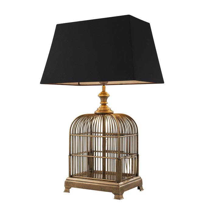 Eichholtz bird cage table lamp. Image via Houseology.