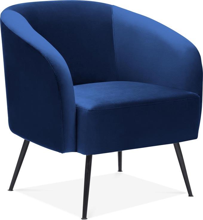 The blue velvet Nashville armchair by Cult Furniture.