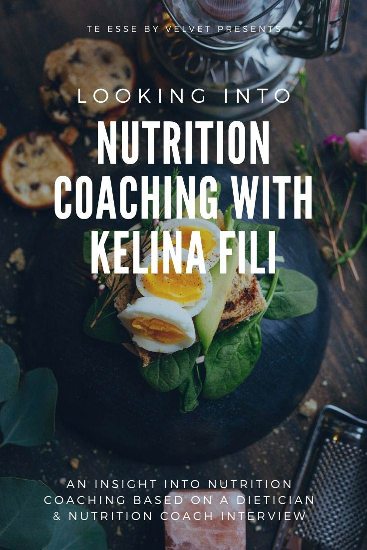 A pin graphic of the interview of nutrition coach Kelina Fili