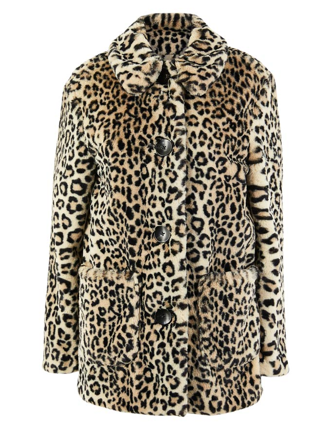 The leopard print coat! Image by Marks&Spencer.