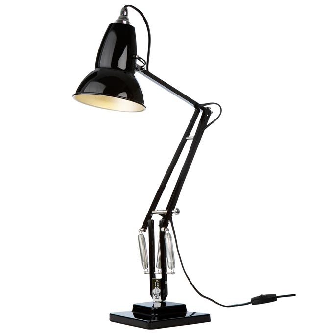 Anglepoise Original 1227 black desk lamp. Image via Nest.co.uk.