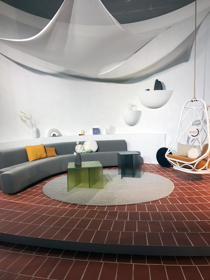 Part of the Das Haus installation from the imm Cologne 2020.
