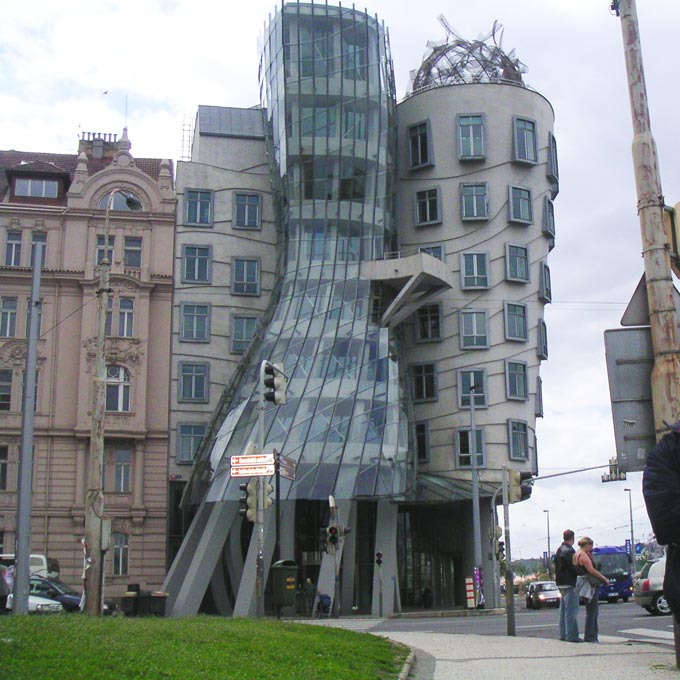 The Dancing House by Frank Gehry in Prague. One of the iconic buildings to see. Image by Velvet.
