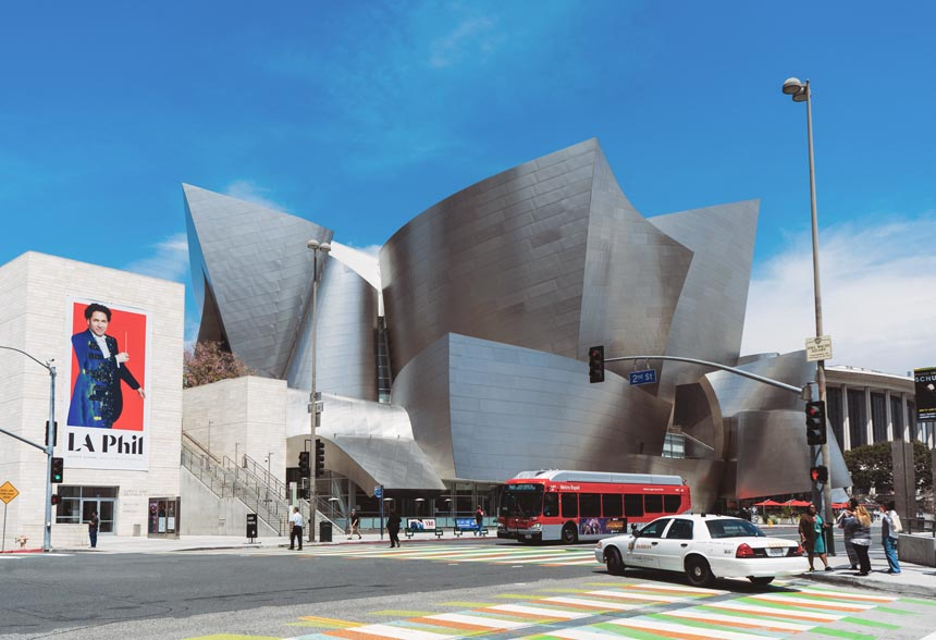 The Walt Disney Concert Hall in downtown L.A. in California, U.S.A.
