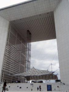La Grande Arche de la Defense in Paris. One of the iconic buildings to see.