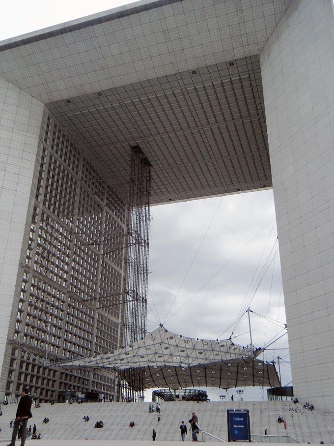La Grande Arche de la Defense in Paris.