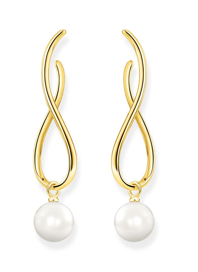 A pair of pendant earrings with pearls. Image: Thomas Sabo.