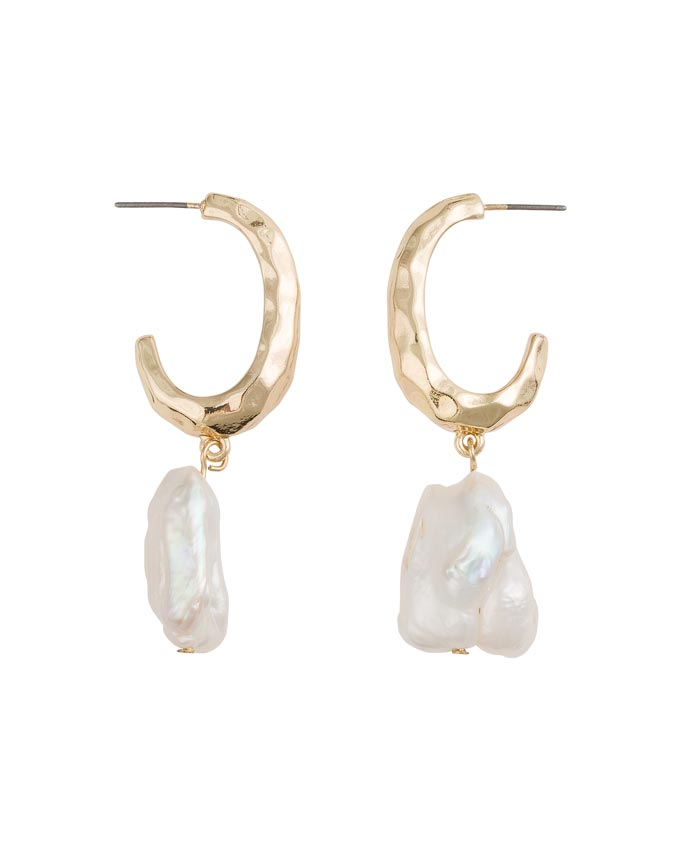 Hoops with pearls. A fab combo. Image: Oliver Bonas.